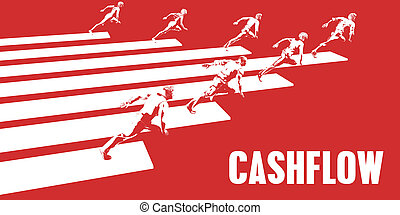 Cashflow with Business People Running in a Path