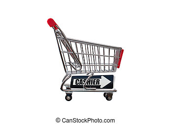Cashier Arrow Shopping Cart