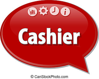 Cashier   Business term speech bubble illustration