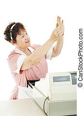 Cashier Checks for Counterfeit Money - Cashier in a...