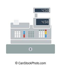 Cashier Icon. Flat Color Design. Vector Illustration.