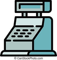 Cashier icon, outline style