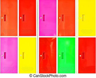 casier, coloré