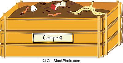casier, compost