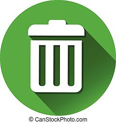 casier, déchets ménagers, icône