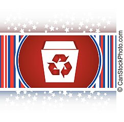 casier, eco, fond, recycler, blanc, icône