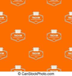 casier, modèle, récipient, orange