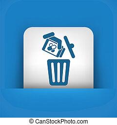 casier, monde médical, déchets ménagers