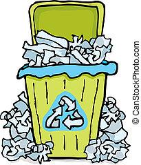 casier, papier, déchets ménagers, recyclage, /