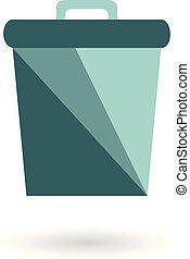 casier, recycler, déchets ménagers, shadow., déchets
