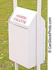 casier, toilette, chien, déchets