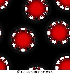 casino., ベクトル, gambling., 背景, イラスト, チップ