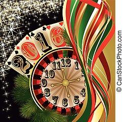 Casino 2016 New year background