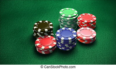 Casino 6 color of chips color 2 - The 3d rendering of...