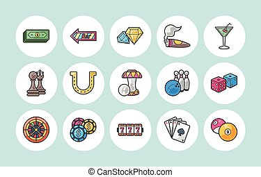 Casino and gambling icons set,eps10