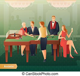 Casino And Roulette Illustration