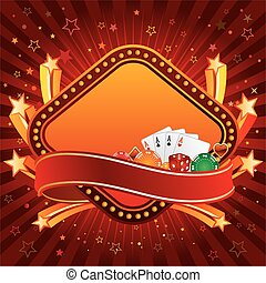 casino background - casino design element and explosion star
