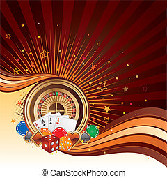 casino design elements, abstract background