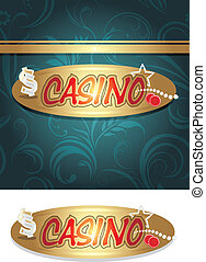Casino background for design