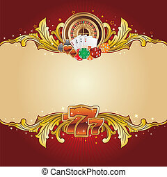 casino background - casino design element with gold frame