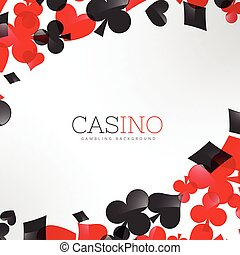 casino background with playing cards symbols