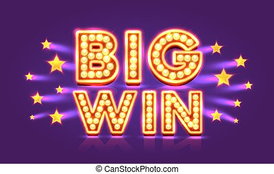 Casino banner big win super star. Vector illustration