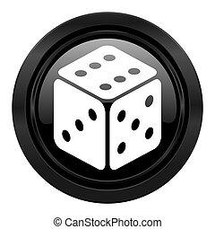 casino black icon hazard sign