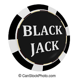 Casino, black jack chip