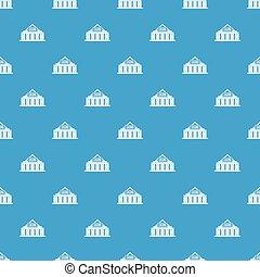 Casino building pattern seamless blue