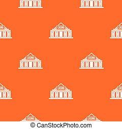 Casino building pattern seamless