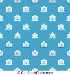 Casino building pattern vector seamless blue