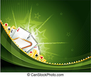 Casino cambling background elements