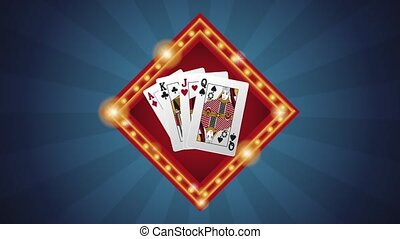 Casino cards sign HD animation