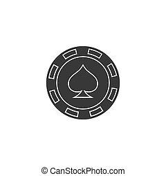 Casino chip flat icon poker chip vector icon