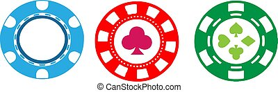 casino chip icon isolated on white background