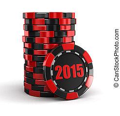 Casino chip stacks 2015