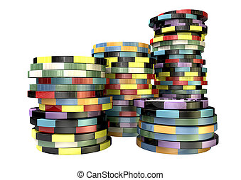 Casino Chip Stacks Front