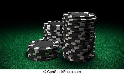 Casino chips black