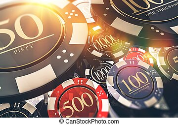 Casino Chips Concept