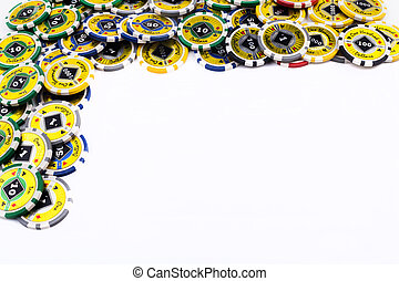 Casino Chips Frame