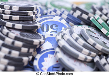 Casino chips - gambling concept .