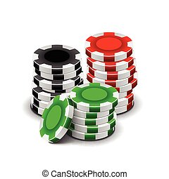 Casino chips isolated on white vector