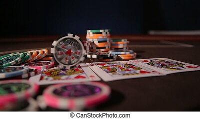 Casino. Chips rotation