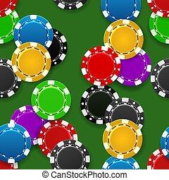 Casino chips seamless pattern