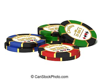 Casino chips - A stack of chips for the casino.