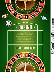 Casino Classic Roulette Game Advertisement Poster