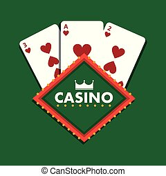casino club playing cards green background