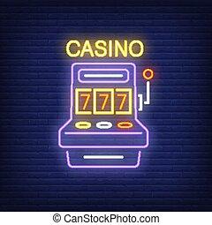 Casino colorful neon sign