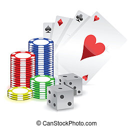 casino concept illustration design over white background