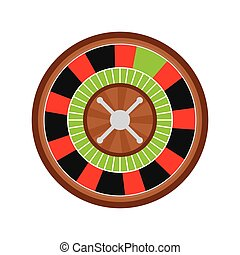 Casino concept. roulette game  icon. vector graphic
